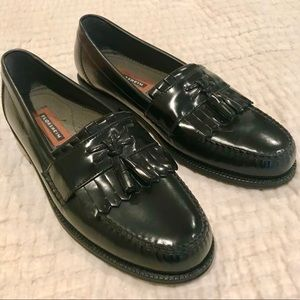 Men's Florsheim 10.5 Black Leather Dress Shoes
